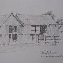 'Hibberts Farm' Pencil 50x35cms