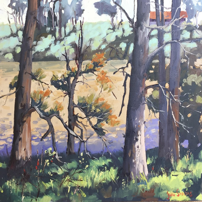 24 River Shadows Here and There Exhib Julie Simmons
