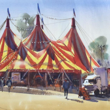 'The Bigtop' 100x80cms