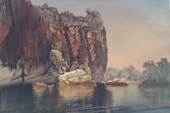 Geike-Gorge-Morning-watercolour-julie-simmons